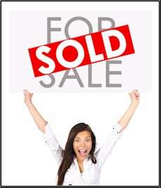 Sold Sign Woman